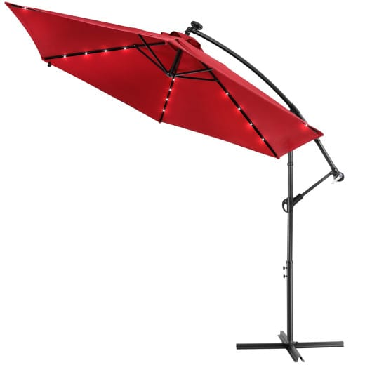 LED Solar Parasol Haiti Red 300cm