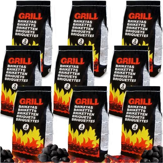 Charcoal Briquettes 3kg - Set of 9