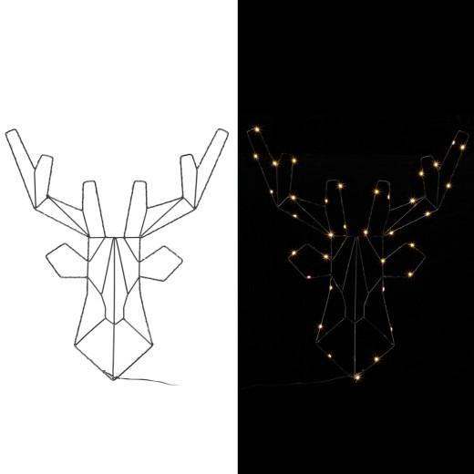 LED Reindeer Metal Warm White incl. Timer