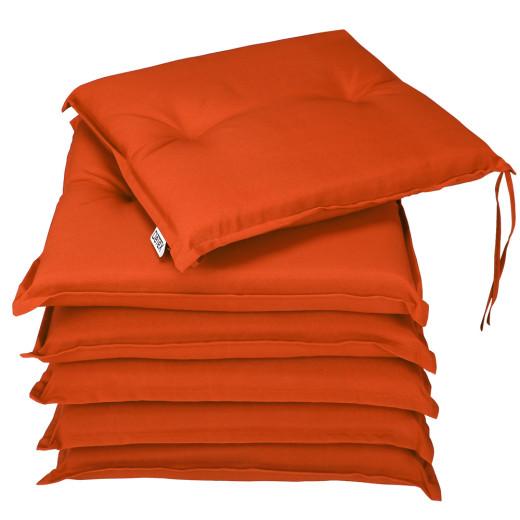 Seat Cushions Boston 6Pcs Orange 43x39x5cm