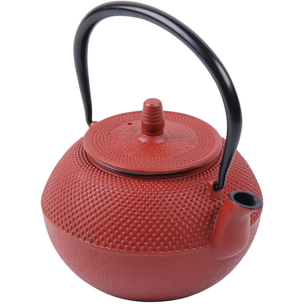 Teapot Cast Iron 1.25L Red
