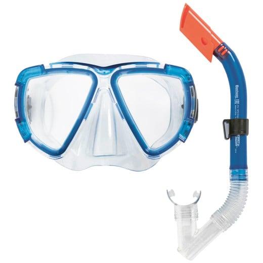 "HYDRO-SWIM™ Snorkel Set ""Blackstripe"" Blue"