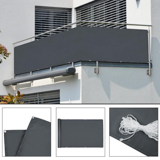 Balcony Privacy Sun Shade Screen 5m - Cuttable