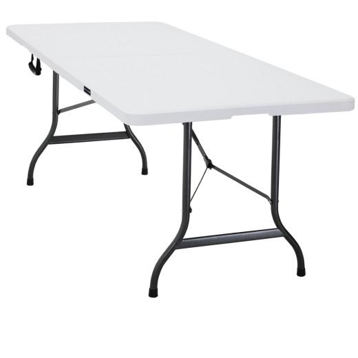 Gartentisch in Weiß Kunststoff 220x70x72 cm klappbar