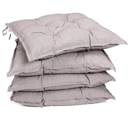 Seat Cushions 4Pcs Cream 40x40x8cm
