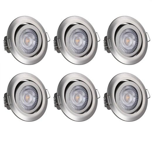 LED Einbauleuchte Krog 6 tlg. Nickel