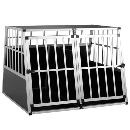 Dog Car Crate Aluminium 38.2x35.4x27.6in