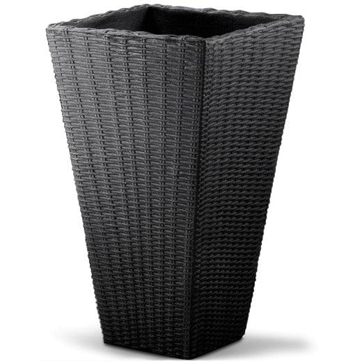 Flechttopf quadratisch 40x40x70 cm Anthrazit