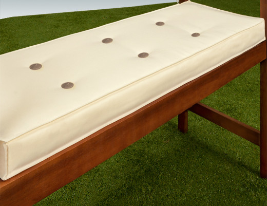 Cushion for 3Seater bench 145x45cm Beige Cream