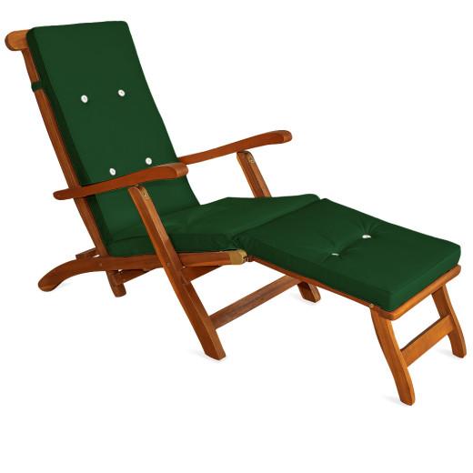 Sun Lounger Cushion Green 173x43x6cm