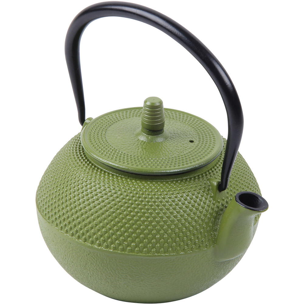 Teapot Cast Iron 1.25L Green