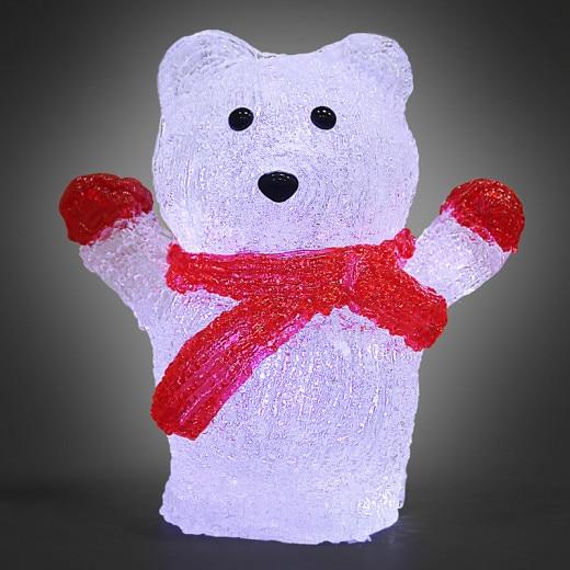 LED Christmas Figure Acryl Polar Bear