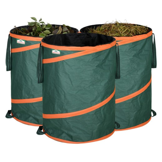 3 Pieces Set Popup Garden Waste Bag 165L