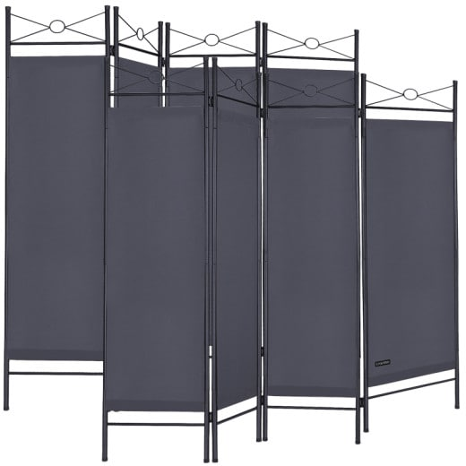Room Devider 2Pcs Anthracite 6x5ft