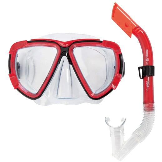 "HYDRO-SWIM™ Snorkel Set ""Blackstripe"" Red"