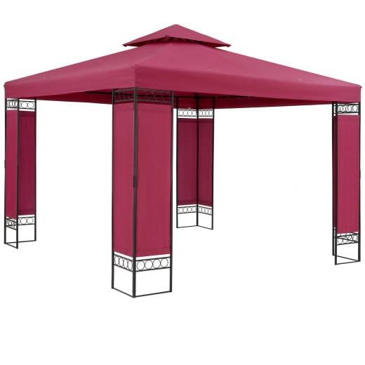Pavillon Lorca Rot 3x3m