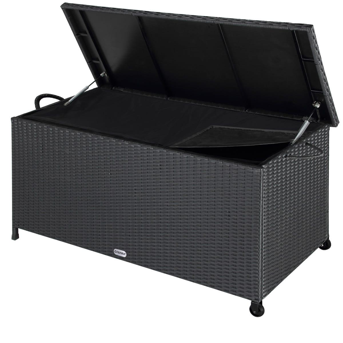 Poly Rattan Garden Storage Box Black 4x1 8x2ft Deubaxxl Com