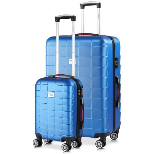 Hardshell Suitcase Monzana 38L, 105L Blue - Set
