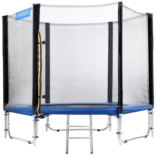 Trampoline 8ft, Safety Net Enclosure, Ladder, Steel Frame