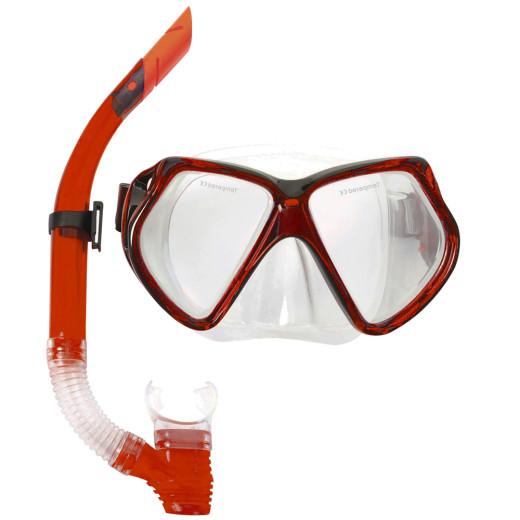 HYDRO-PRO™ Snorkel Set Combo Red