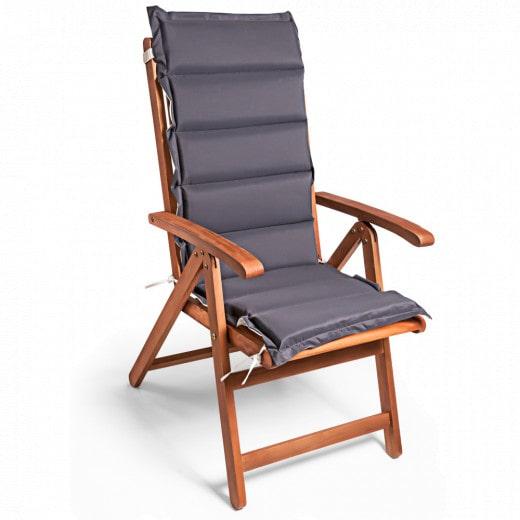 Chair Cushion Vanamo 6Pcs Cream/Anthracite 120x45x5cm