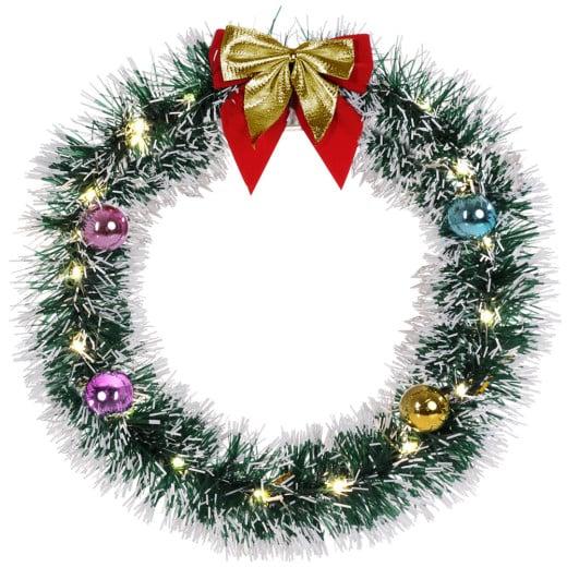 LED Christmas Wreath Gold 13in diameter
