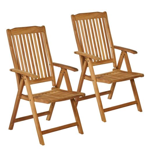 Set of 2 Garden Chair Bari Teak Wood