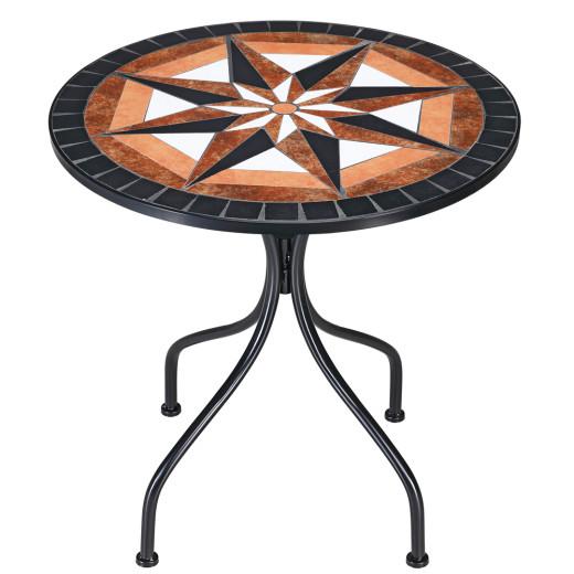 "Mosaic Garden Table ""Pamplona"" in Mediterranean Style"
