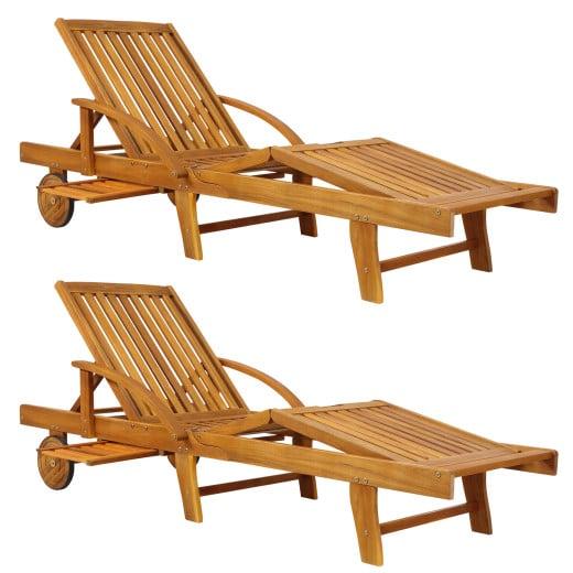Sun Lounger Tami Sun 2Pcs Acacia Wood
