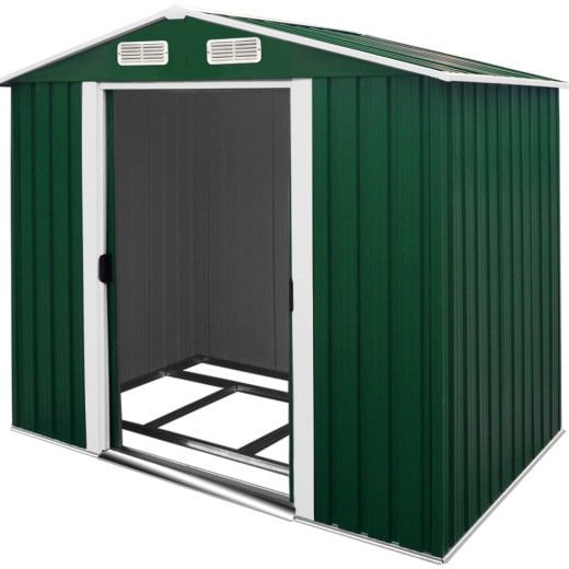 Garden Shed Green Metal 8.4x6.7x5.8ft