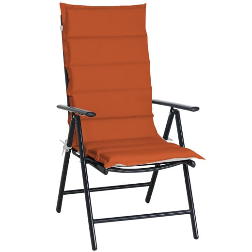 Chair Cushion Vanamo 6Pcs Grey/Terracotta 120x45x5cm