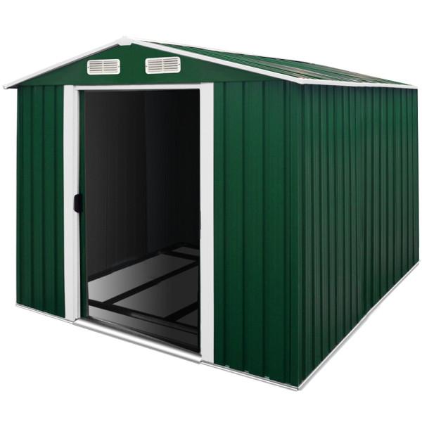 Garden Shed Green Metal 10x8.5x6ft