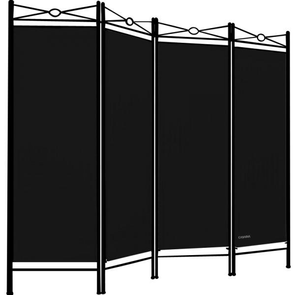 Mediterranean Room Devider in Black 6x5ft