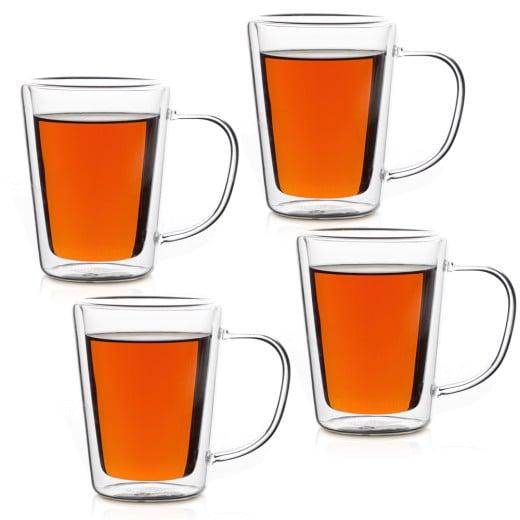 Tea Glasses 250ml Double Walled - Set of 4