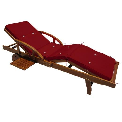 Sun Lounger Cushion Tami Sun Red 195x55x5cm