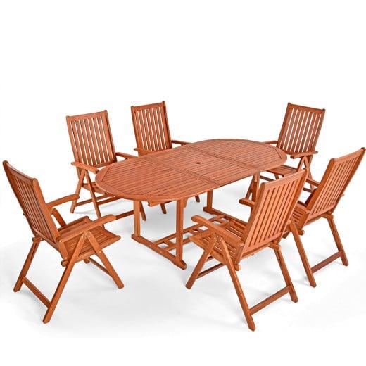 Garden Dining Set Vanamo 7Pcs Eucalyptus Wood FSC®-certified