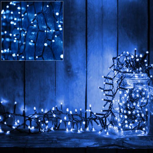 Lichterkette 10,5m mit 160 LEDs, Timer und Controller Blau