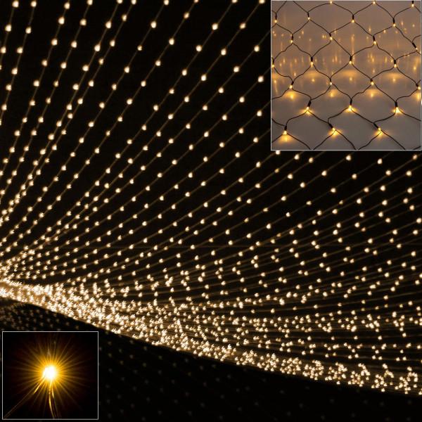 String Lights Net 160 LEDs Warm White 2m