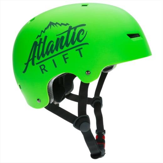 Atlantic Rift Adjustable Kids Bike Skateboard Helmet Neon Green M