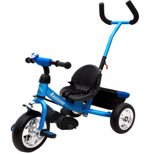 Kinderdreirad Raceline - Metall - Schiebestange - Blau