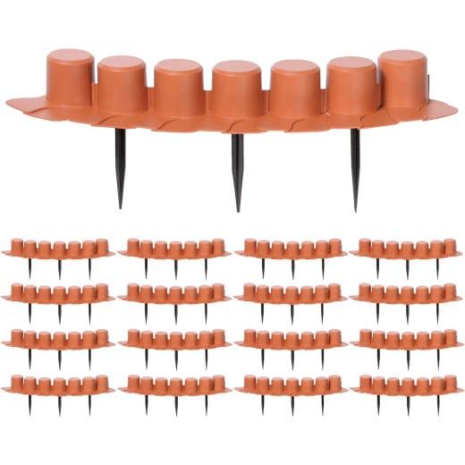 Beeteinfassung 2er-Set Terrakotta 8,10m