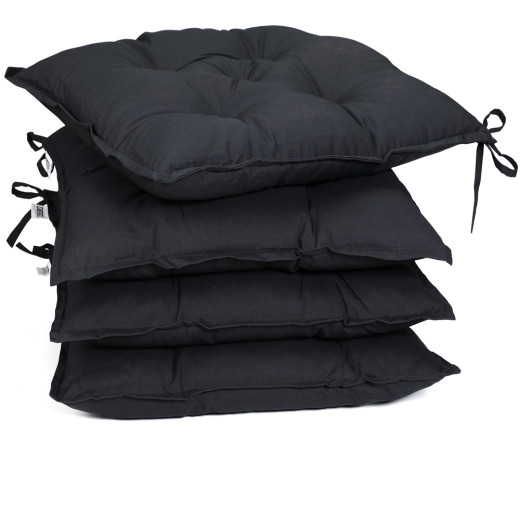 Seat Cushions 4Pcs Anthracite 40x40x8cm