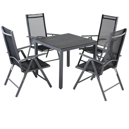 Garden Dining Set Bern 5 Pcs Anthracite WPC Table Top