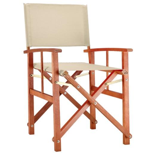 Director's Chair Cannes Cream Eucalyptus Wood FSC®-certified