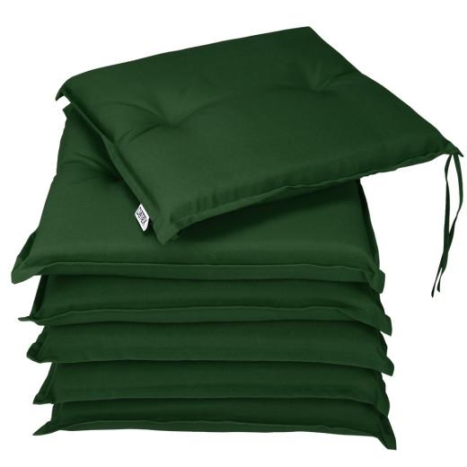 6 seat cushions for BOSTON furniture set - padded garden terrace cushions- Green