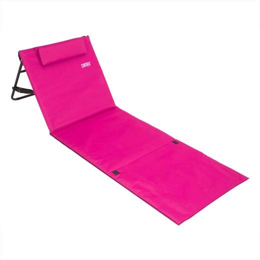 Beach Mat with Backrest Pink 158x56cm