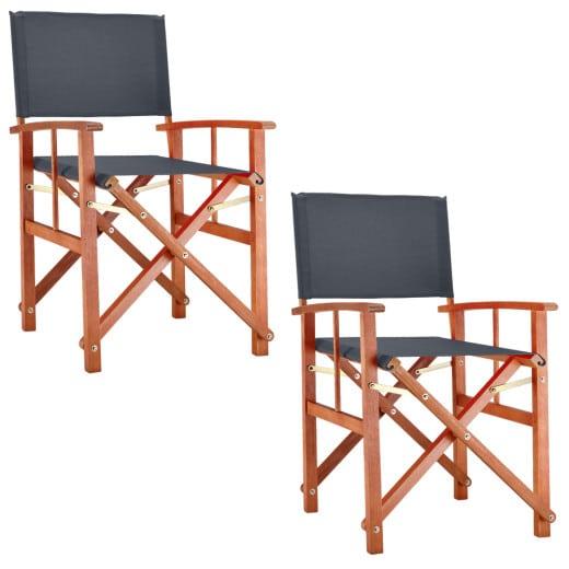 Directors Chair Cannes 2Pcs. Anthracite Eucalyptus