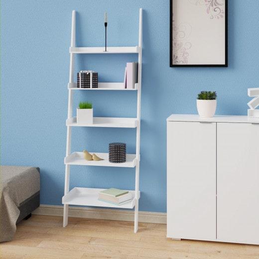 Ladder Shelf 5 Tier Wall Rack 180cm