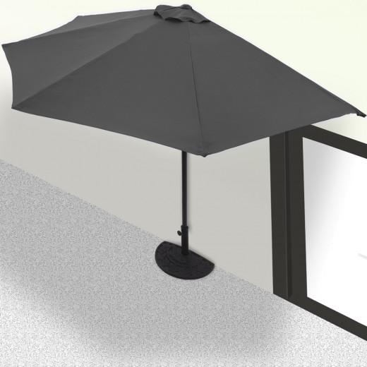 Half Parasol Anthracite 2.7m UV Protection 50+