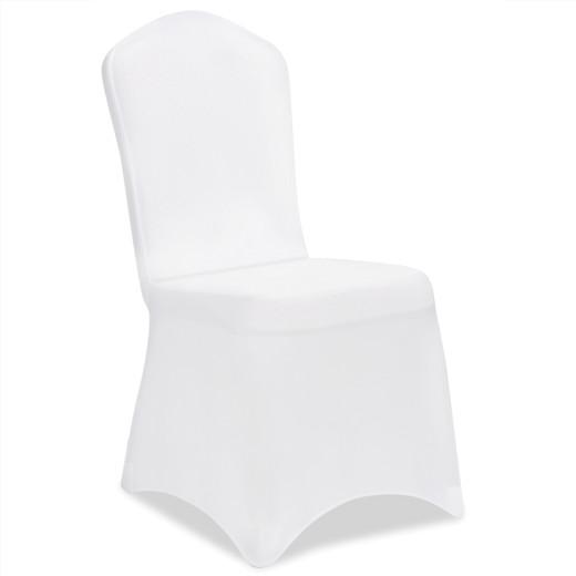 4er Set Stuhlhussen in weiß